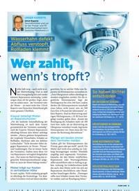 Titelbild der Ausgabe 5/2020 von Wer zahlt, wenn's tropft?. Zeitschriften als Abo oder epaper bei United Kiosk online kaufen.