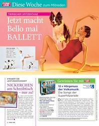 Titelbild der Ausgabe 6/2020 von Diese Woche zum Mitreden: TIERISCHER SPITZENTANZ: Jetzt macht Bello mal BALLETT. Zeitschriften als Abo oder epaper bei United Kiosk online kaufen.