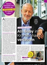 Titelbild der Ausgabe 6/2020 von TV-Aktuell: Leonard Lansink: Als Baby im Krankenhaus verlassen. Zeitschriften als Abo oder epaper bei United Kiosk online kaufen.