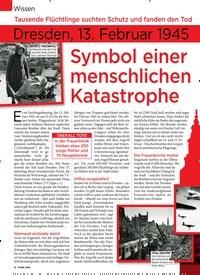 Titelbild der Ausgabe 6/2020 von Wissen: Tausende Flüchtlinge suchten Schutz und fanden den Tod: Dresden, 13. Februar 1945: Symbol einer menschlichen Katastrophe. Zeitschriften als Abo oder epaper bei United Kiosk online kaufen.