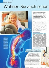Titelbild der Ausgabe 7/2020 von Gesundheit: Wohnen Sie auch schon rückenfreundlich?. Zeitschriften als Abo oder epaper bei United Kiosk online kaufen.