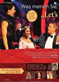 """Titelbild der Ausgabe 7/2020 von TV-Aktuell: Was meinen Sie, wer holt sich die: """"Let's Dance""""-Krone?. Zeitschriften als Abo oder epaper bei United Kiosk online kaufen."""