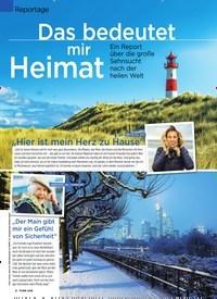 Titelbild der Ausgabe 9/2020 von Reportage: Das bedeutet mir Heimat. Zeitschriften als Abo oder epaper bei United Kiosk online kaufen.