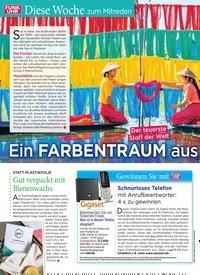 Titelbild der Ausgabe 10/2020 von Diese Woche zum Mitreden: Ein FARBENTRAUM aus Seide. Zeitschriften als Abo oder epaper bei United Kiosk online kaufen.
