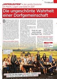 Titelbild der Ausgabe 10/2020 von Die ungeschönte Wahrheit einer Dorfgemeinschaft. Zeitschriften als Abo oder epaper bei United Kiosk online kaufen.