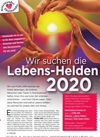 Titelbild der Ausgabe 10/2020 von Wir suchen die Lebens-Helden 2020. Zeitschriften als Abo oder epaper bei United Kiosk online kaufen.