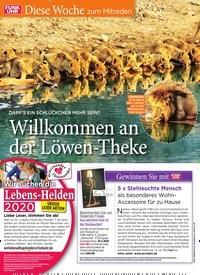 Titelbild der Ausgabe 11/2020 von Diese Woche zum Mitreden: DARF'S EIN SCHLÜCKCHEN MEHR SEIN?: Willkommen an der Löwen-Theke. Zeitschriften als Abo oder epaper bei United Kiosk online kaufen.