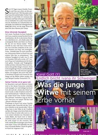 Titelbild der Ausgabe 11/2020 von Karel Gott (†):Endlich bricht Ivana ihr Schweigen: Was die junge Witwe mit seinem Erbe vorhat. Zeitschriften als Abo oder epaper bei United Kiosk online kaufen.