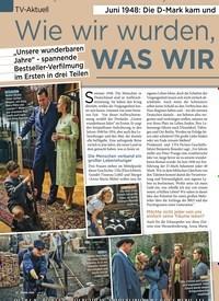 Titelbild der Ausgabe 11/2020 von TV-Aktuell: Juni 1948: Die D-Mark kam und endlich war Träumen wieder erlaubt: Wie wir wurden, WAS WIR SIND!. Zeitschriften als Abo oder epaper bei United Kiosk online kaufen.