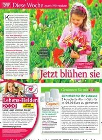 Titelbild der Ausgabe 12/2020 von Diese Woche zum Mitreden: Traum-Tulpen aus Holland: Jetzt blühen sie wieder. Zeitschriften als Abo oder epaper bei United Kiosk online kaufen.