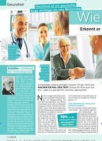Titelbild der Ausgabe 12/2020 von Gesundheit: Manchmal ist ein geschultes Auge wichtiger als eine Blutprobe: Wie gut ist Ihr Arzt?. Zeitschriften als Abo oder epaper bei United Kiosk online kaufen.