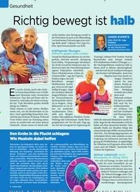 Titelbild der Ausgabe 13/2020 von Gesundheit: Richtig bewegt ist halb geheilt. Zeitschriften als Abo oder epaper bei United Kiosk online kaufen.