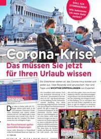 Titelbild der Ausgabe 13/2020 von Reportage: Corona-Krise: Das müssen Sie jetzt für Ihren Urlaub wissen. Zeitschriften als Abo oder epaper bei United Kiosk online kaufen.