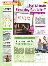 Titelbild der Ausgabe 22/2019 von Spotify, Deezer & Co: Darf ich mein Streaming-Abo teilen?. Zeitschriften als Abo oder epaper bei United Kiosk online kaufen.