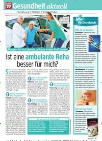 Titelbild der Ausgabe 22/2019 von Ist eine ambulante Reha besser für mich?. Zeitschriften als Abo oder epaper bei United Kiosk online kaufen.