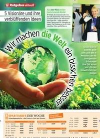 Titelbild der Ausgabe 23/2019 von 5 Visionäre und ihre verblüffenden Ideen: Wir machen die Welt ein bisschen besser. Zeitschriften als Abo oder epaper bei United Kiosk online kaufen.