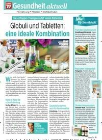 Titelbild der Ausgabe 23/2019 von Diese Doppel-Therapie nutzt vielen Patienten: Globuli und Tabletten: eine ideale Kombination. Zeitschriften als Abo oder epaper bei United Kiosk online kaufen.
