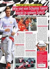 Titelbild der Ausgabe 25/2019 von MICK AUF DEM WEG NACH GANZ OBEN: Wie viel von Schumis Talent steckt in seinem Sohn?. Zeitschriften als Abo oder epaper bei United Kiosk online kaufen.