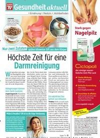 Titelbild der Ausgabe 25/2019 von Höchste Zeit für eine Darmreinigung. Zeitschriften als Abo oder epaper bei United Kiosk online kaufen.