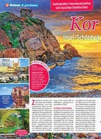 Titelbild der Ausgabe 26/2019 von Kor sika: Insel-Schönheit für Naturliebhaber. Zeitschriften als Abo oder epaper bei United Kiosk online kaufen.