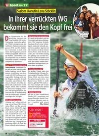 Titelbild der Ausgabe 26/2019 von Slalom-Kanutin Lena Stöcklin: In ihrer verrückten WG bekommt sie den Kopf frei. Zeitschriften als Abo oder epaper bei United Kiosk online kaufen.