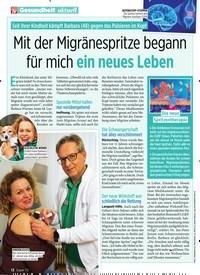 Titelbild der Ausgabe 26/2019 von Mit der Migränespritze begann für mich ein neues Leben. Zeitschriften als Abo oder epaper bei United Kiosk online kaufen.
