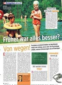 Titelbild der Ausgabe 28/2019 von Früher war alles besser?: Von wegen!. Zeitschriften als Abo oder epaper bei United Kiosk online kaufen.