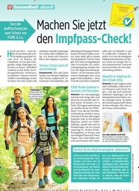 Titelbild der Ausgabe 28/2019 von Machen Sie jetzt den Impfpass-Check!. Zeitschriften als Abo oder epaper bei United Kiosk online kaufen.