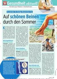 Titelbild der Ausgabe 29/2019 von So werden Sie lästige Besenreiser los: Auf schönen Beinen durch den Sommer. Zeitschriften als Abo oder epaper bei United Kiosk online kaufen.