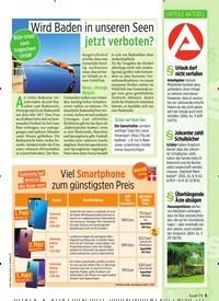 Titelbild der Ausgabe 30/2019 von Wird Baden in unseren Seen jetzt verboten?. Zeitschriften als Abo oder epaper bei United Kiosk online kaufen.