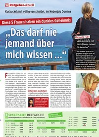 """Titelbild der Ausgabe 30/2019 von Ratgeber aktuell: """"Das darf nie jemand über mich wissen …"""". Zeitschriften als Abo oder epaper bei United Kiosk online kaufen."""
