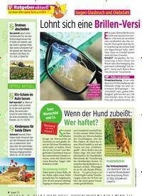 Titelbild der Ausgabe 31/2019 von Gegen Glasbruch und Diebstahl: Lohnt sich eine Brillen-Versi cherung wirklich?. Zeitschriften als Abo oder epaper bei United Kiosk online kaufen.