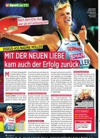Titelbild der Ausgabe 31/2019 von Sport im TV: DISKUS-ASS NADINE MÜLLER MIT DER NEUEN LIEBE kam auch der Erfolg zurück. Zeitschriften als Abo oder epaper bei United Kiosk online kaufen.