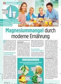 Titelbild der Ausgabe 31/2019 von Magnesiummangel durch moderne Ernährung. Zeitschriften als Abo oder epaper bei United Kiosk online kaufen.