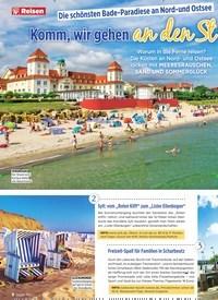 Titelbild der Ausgabe 32/2019 von Die schönsten Bade-Paradiese an Nord-und Ostsee: Komm, wir gehen an den Strand!. Zeitschriften als Abo oder epaper bei United Kiosk online kaufen.