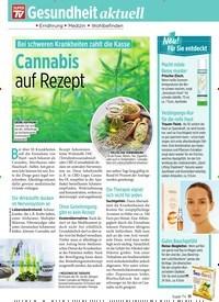 Titelbild der Ausgabe 32/2019 von Gesundheit aktuell: Bei schweren Krankheiten zahlt die Kasse: Cannabis auf Rezept. Zeitschriften als Abo oder epaper bei United Kiosk online kaufen.