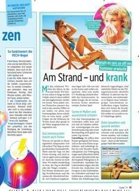 Titelbild der Ausgabe 34/2019 von Am Strand – und krank. Zeitschriften als Abo oder epaper bei United Kiosk online kaufen.