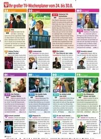 Titelbild der Ausgabe 34/2019 von Ihr großer TV-Wochenplaner vom 24. bis 30. 8.. Zeitschriften als Abo oder epaper bei United Kiosk online kaufen.