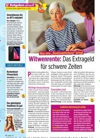 """Titelbild der Ausgabe 36/2019 von Was eine """"Rentenabfindung"""" bringt: Witwenrente: Das Extrageld für schwere Zeiten. Zeitschriften als Abo oder epaper bei United Kiosk online kaufen."""