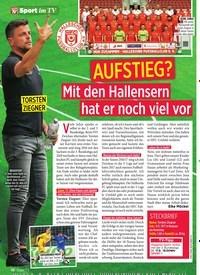 Titelbild der Ausgabe 37/2019 von AUFSTIEG?: Mit den Hallensern hat er noch viel vor. Zeitschriften als Abo oder epaper bei United Kiosk online kaufen.