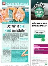 Titelbild der Ausgabe 37/2019 von Gesundheit aktuell: Das trinkt die Haut am liebsten. Zeitschriften als Abo oder epaper bei United Kiosk online kaufen.