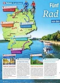 Titelbild der Ausgabe 39/2019 von Reisen & gewinnen: Fünf wunderschöne Rad touren. Zeitschriften als Abo oder epaper bei United Kiosk online kaufen.