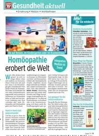 Titelbild der Ausgabe 39/2019 von Gesundheit aktuell: Homöopathie erobert die Welt. Zeitschriften als Abo oder epaper bei United Kiosk online kaufen.