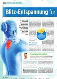Titelbild der Ausgabe 39/2019 von Gesundheit aktuell: Blitz-Entspannung für unseren Nacken. Zeitschriften als Abo oder epaper bei United Kiosk online kaufen.