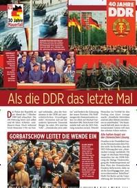 Titelbild der Ausgabe 40/2019 von Als die DDR das letzte Mal Geburtstag feierte. Zeitschriften als Abo oder epaper bei United Kiosk online kaufen.