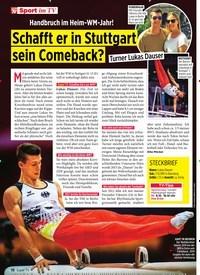 Titelbild der Ausgabe 40/2019 von Schafft er in Stuttgart sein Comeback?. Zeitschriften als Abo oder epaper bei United Kiosk online kaufen.