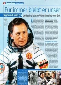Titelbild der Ausgabe 41/2019 von Trauriger Abschied: Für immer bleibt er unser Kosmonaut der Herzen. Zeitschriften als Abo oder epaper bei United Kiosk online kaufen.