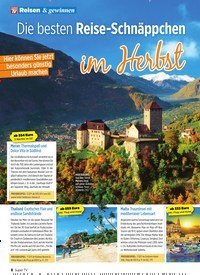Titelbild der Ausgabe 41/2019 von Die besten Reise-Schnäppchen. Zeitschriften als Abo oder epaper bei United Kiosk online kaufen.