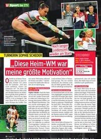 """Titelbild der Ausgabe 41/2019 von Sport im TV: """"Diese Heim-WM war meine größte Motivation"""". Zeitschriften als Abo oder epaper bei United Kiosk online kaufen."""