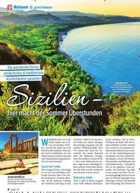 Titelbild der Ausgabe 42/2019 von Sizilien – hier macht der Sommer Überstunden. Zeitschriften als Abo oder epaper bei United Kiosk online kaufen.
